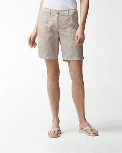 Sea Glass 10-Inch Linen Bermuda Shorts