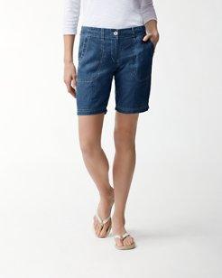 Sea Glass 10-Inch Linen Bermuda Shorts