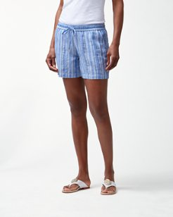 Santiago Stripe Linen-Blend Easy Shorts