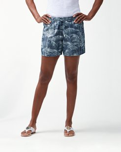 Fresco Fronds 5-Inch Chambray Easy Shorts