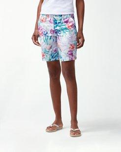 Valentina Villa 9-Inch Linen Bermuda Shorts
