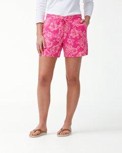 Hoani Hibiscus 5-Inch Linen Shorts