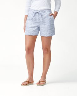 Crystalline Waters 5-Inch Linen Shorts