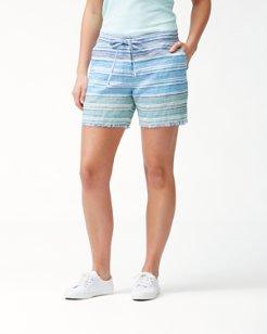 Micronesia Stripe 5-Inch linen Shorts