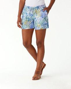 Marias Floral Linen 5-Inch Short