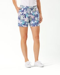 Palm Lights Linen 5-Inch Shorts