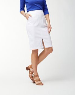 Ana Twill Pencil Skirt