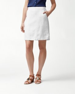Two Palms Linen Skirt
