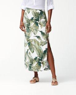 Fiesta Palms Linen-Blend Skirt