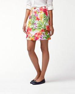 Marabella Blooms Linen Skirt