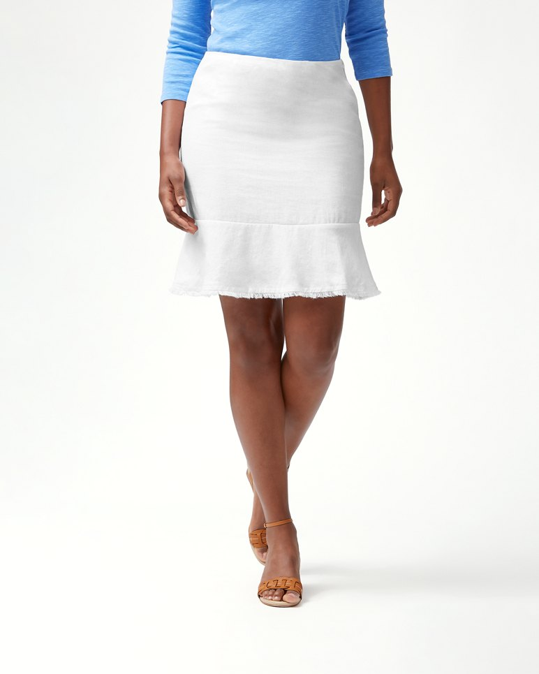 Main Image for Two Palms Short Linen Flounce Skirt