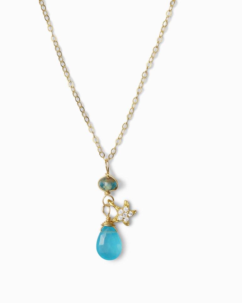 Main Image for Pavé Starfish Apatite Necklace