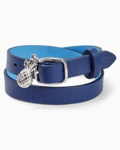 Reversible Leather Wrap Bracelet
