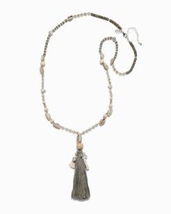 Shell Vista Tassel Necklace