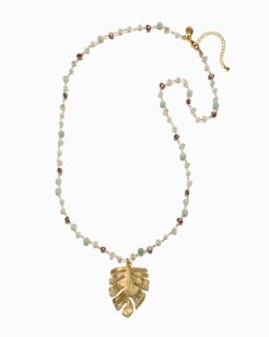 Mineral Springs Monstera Necklace
