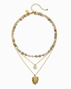 Mineral Springs Triple-Strand Necklace
