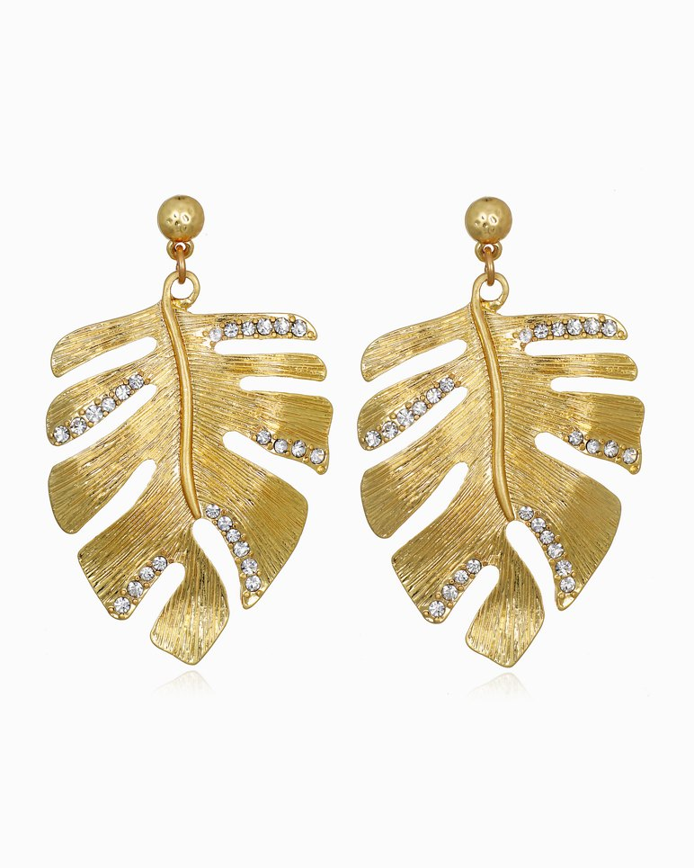 Main Image for Mineral Springs Monstera Earrings