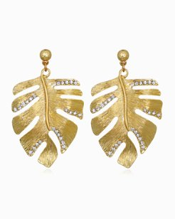 Mineral Springs Monstera Earrings