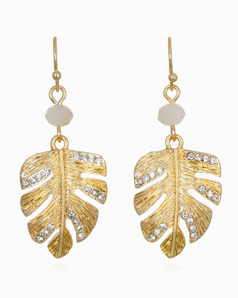 Main Image for Mineral Springs Monstera Drop Earrings