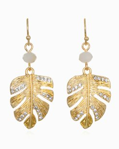 Mineral Springs Monstera Drop Earrings