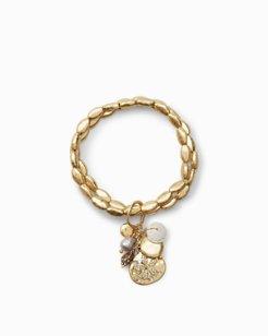 Seashell Cluster Bracelet