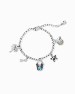On Vacation Charm Bracelet With Swarovski® Crystals