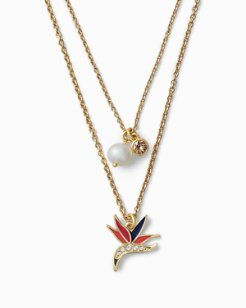 Tropical Charm Necklace With Swarovski® Crystals