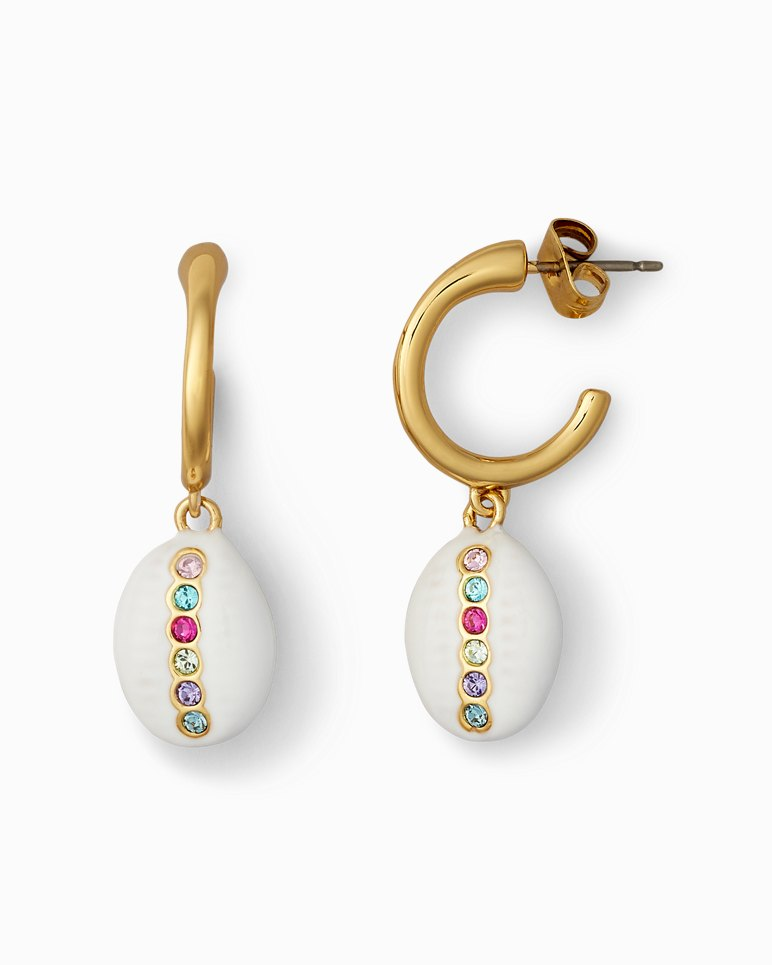 Main Image for Cowrie Hoop Earrings With Swarovski® Crystals