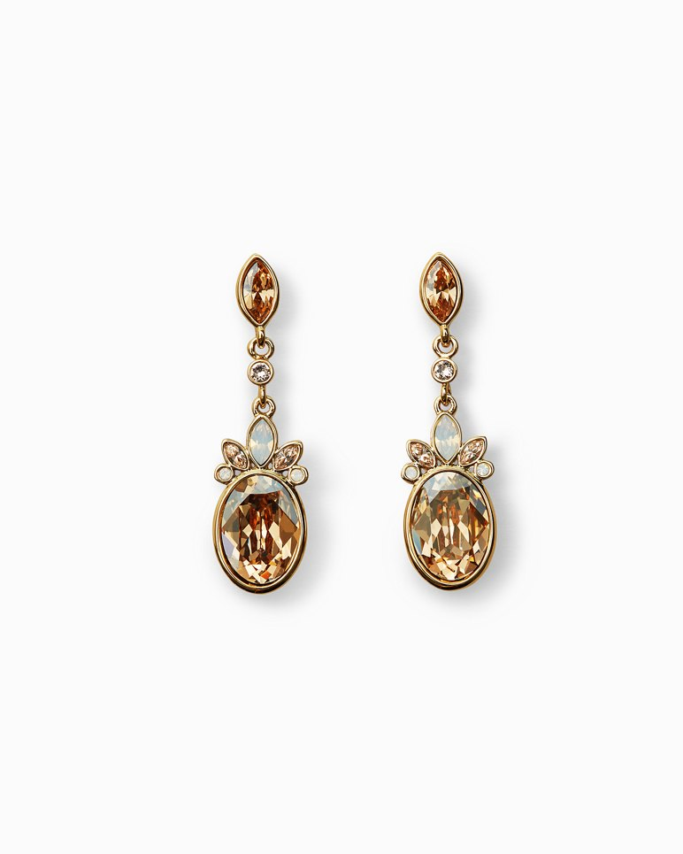 Main Image for Gleaming Pineapple Drop Earrings With Swarovski® Crystals