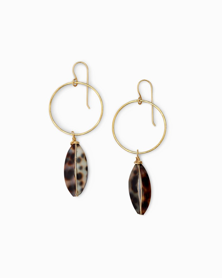 Main Image for Tiger Cowrie Earrings