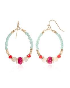 Samudra Bead Hoop Earrings