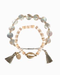 Double Strand Shell Bracelet