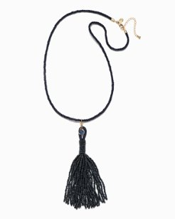 Beachy Beads Tassel Necklace