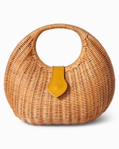 Ocean Bluff Wicker Handbag