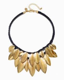 Golden Petals Statement Necklace