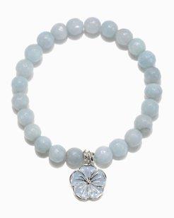 Floral Charm Beaded Bracelet