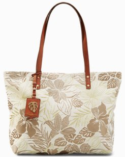 Embroidered Paradise Tote