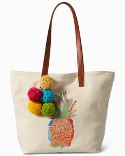 Watercolor Pineapple Canvas Tote