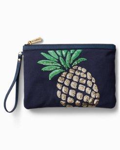 Pineapple Bling Wristlet