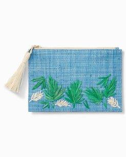 Island Palm Zip Pouch