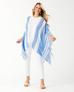 Beach Side Stripe Ruana