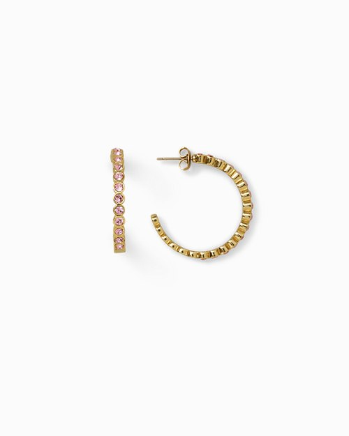 Large Hoop Earrings With Bezel Set With Swarovski® Crystals
