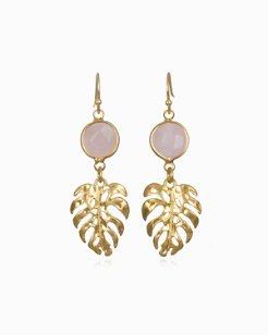 Monstera Jewel Drop Earring