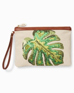 Monstera Radiance Wristlet