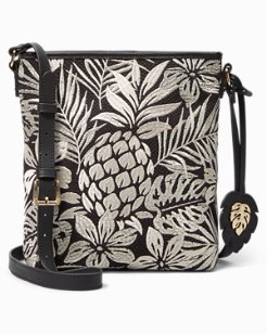 Embroidered Pineapple Patch Crossbody