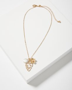 Monstera Mirage Cluster Necklace