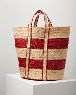 Searose Stripe Bucket Tote