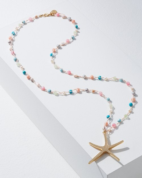 Starfish Pendant With Color Beads