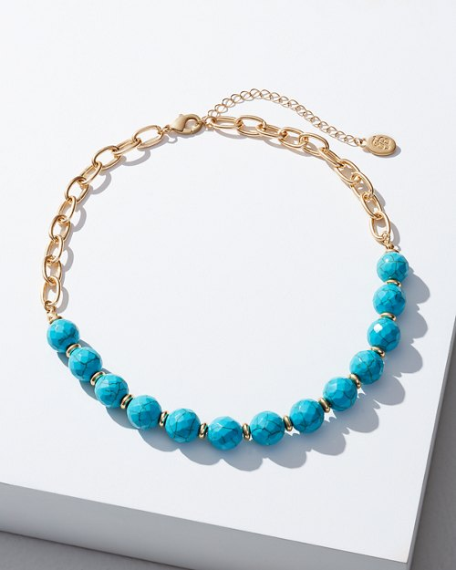 Chain & Turquoise Necklace