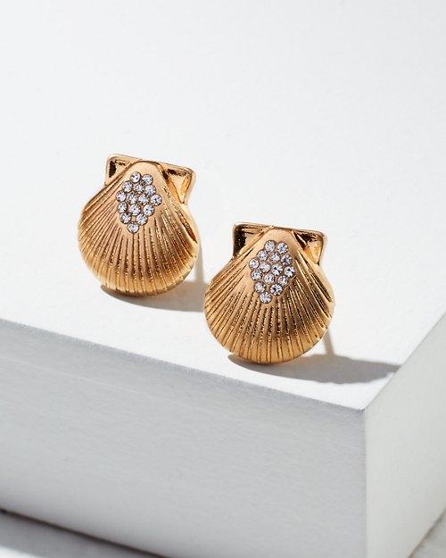 Scallop Shell Stud Earrings